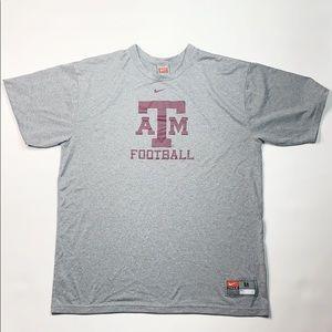 Nike Dry Fit Texas A&M Football Tee Shirt